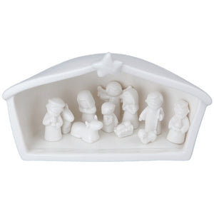 Load image into Gallery viewer, White Ceramic Nativity
