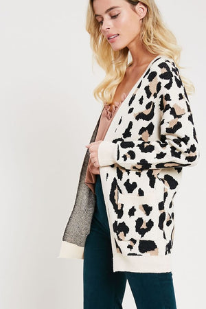 Load image into Gallery viewer, Pura Leopard Cardigan