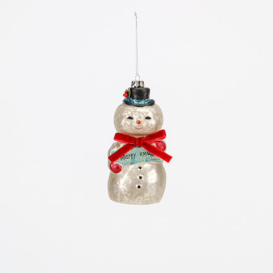 Load image into Gallery viewer, Vintage Snowman Ornament