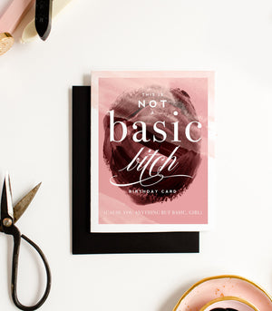 Basic Bitch Greeting Card