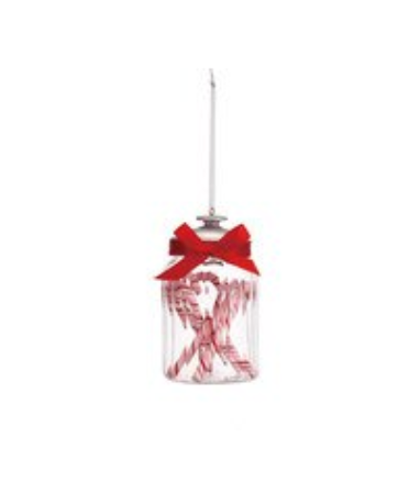 Candy Canes in Jar Ornament