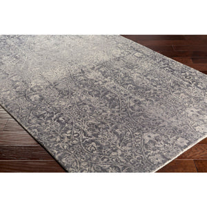 Load image into Gallery viewer, Grey & Cream Wool Rug