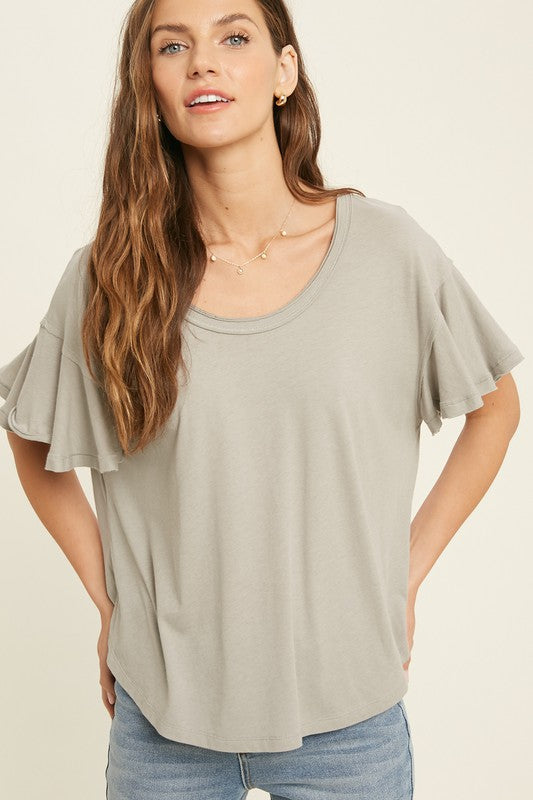 Casual Short Sleeve Knit Top