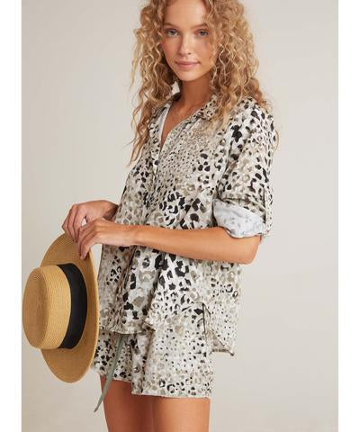 Load image into Gallery viewer, Speckled Olive Button Down by Bella Dahl