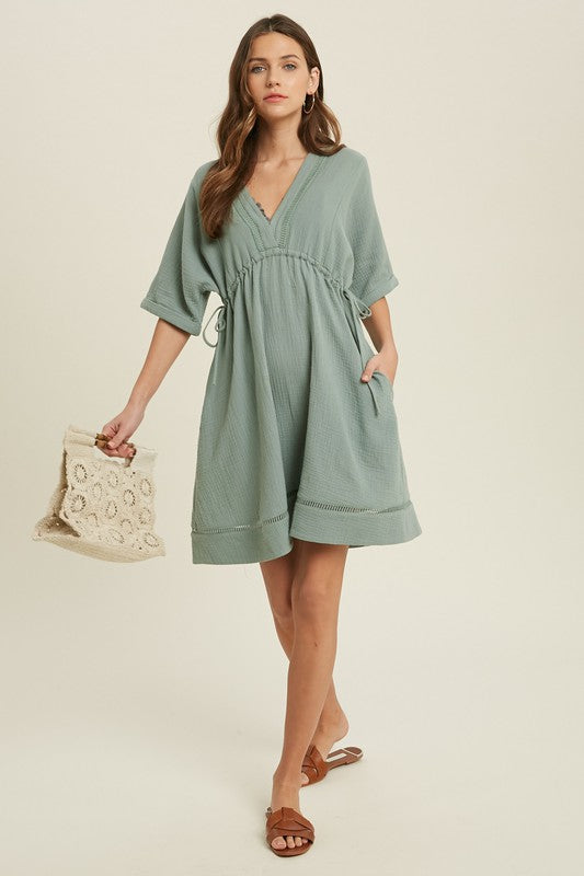 Double Gauze Mini Dress