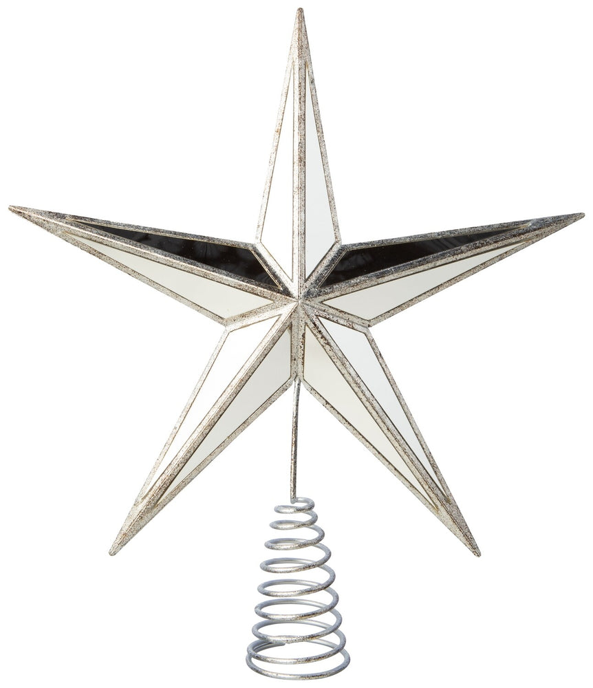 Mirrored Glass Star Tree Topper