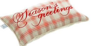Load image into Gallery viewer, Season's Greeting Plaid Pillow