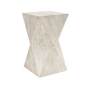 Milan White Side Table