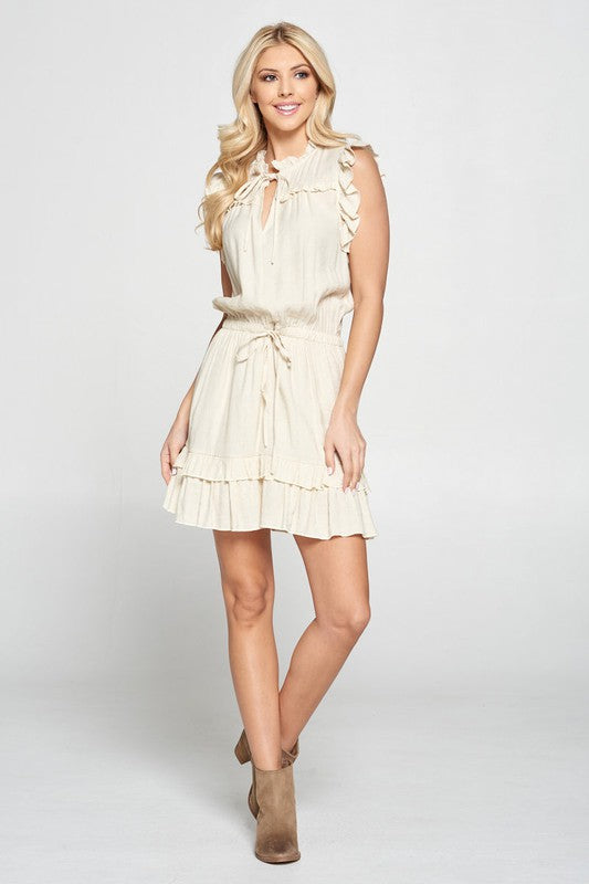 Mini Dress with Ruffle Details