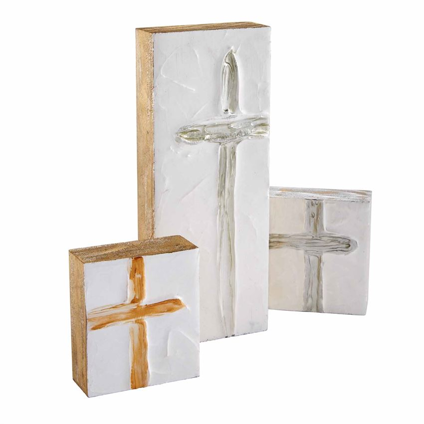Cross Wooden Block Plaques