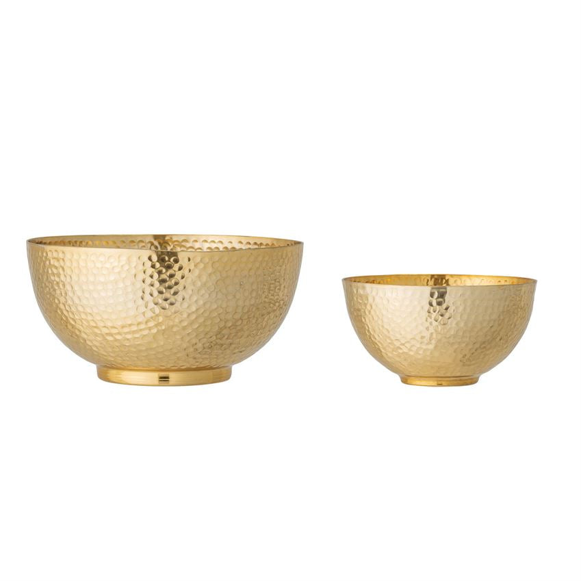 Load image into Gallery viewer, Hammered Metal Bowls - 6.5""