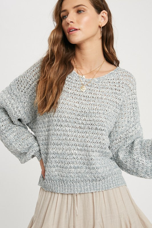 Textured Long Sleeve Sweater