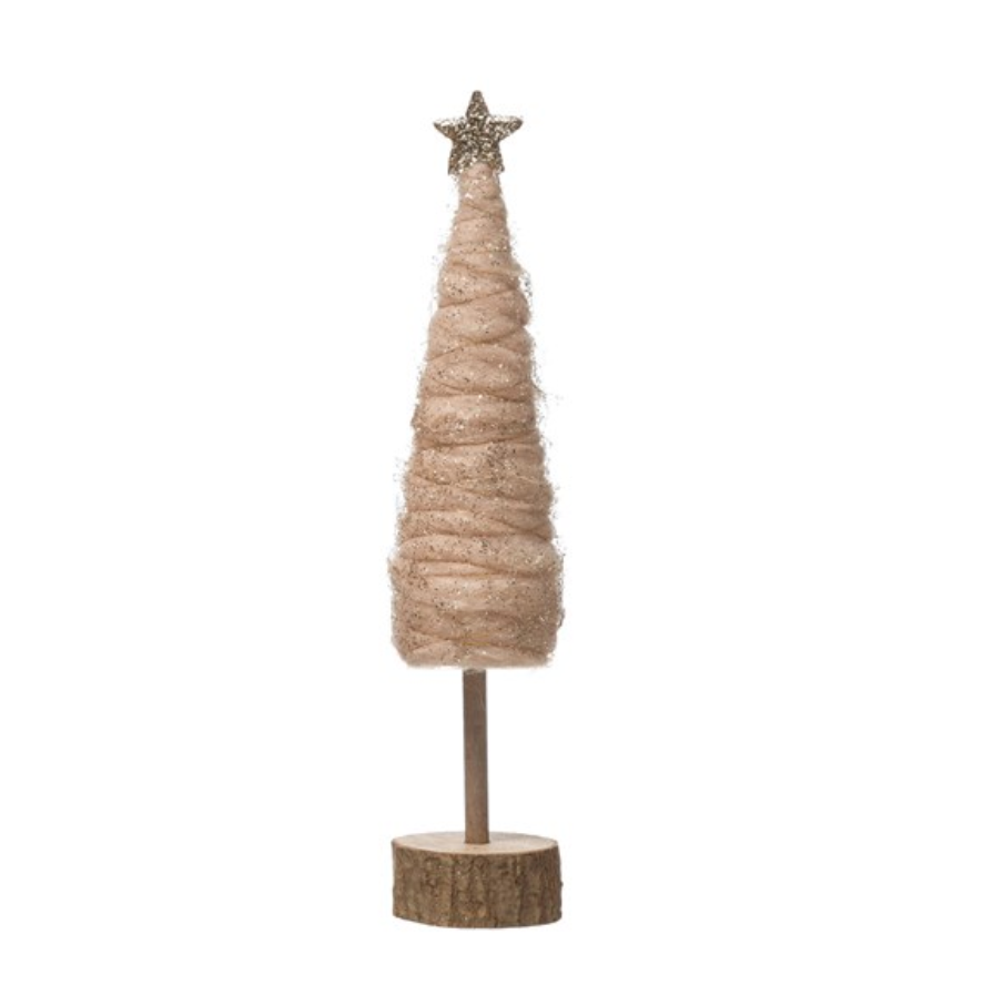 Blush Wool Tree - 12.75""