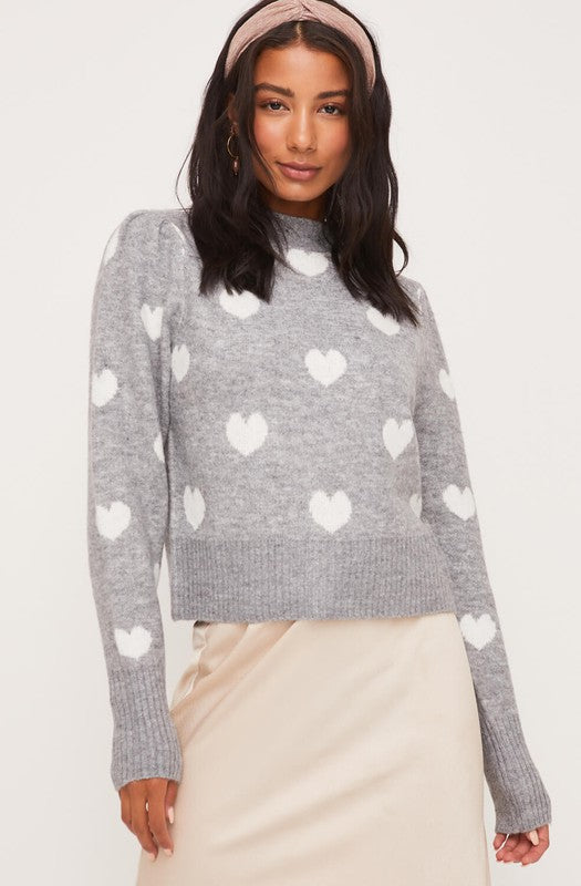 Furry Heart Sweater