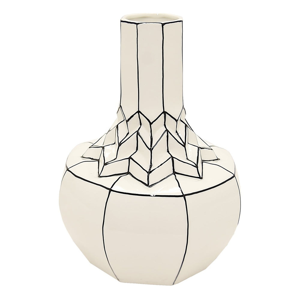 Load image into Gallery viewer, Geometric Porcelain Vase