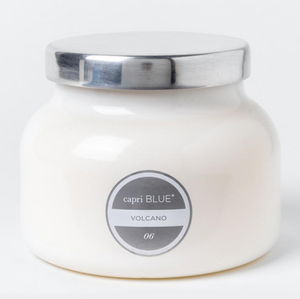 Capri Blue | Volcano Candle | White Jar