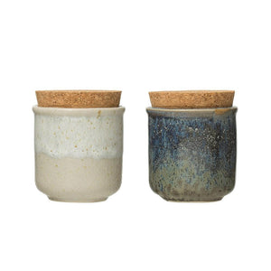 Mini Stoneware Jar with Cork Lid
