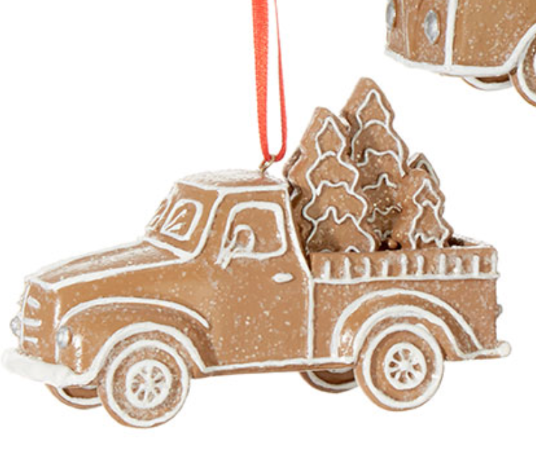 Gingerbread Truck Ornament
