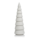 Matte White Ceramic Holiday Tree - 12""