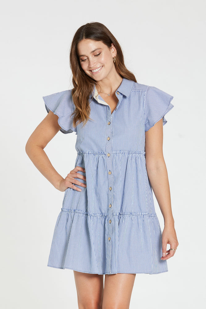 Lili Button Down Stripe Dress