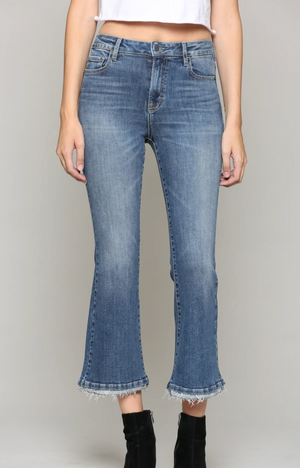 Load image into Gallery viewer, Hope Cropped Flare Jeans