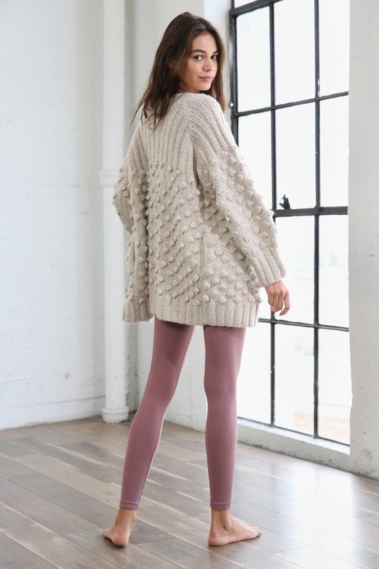 Load image into Gallery viewer, Knit Swiss Puffs Heavy Cardigan