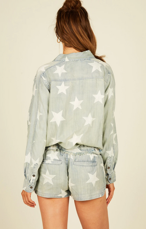 Load image into Gallery viewer, Starlene Vintage Demin Shirt