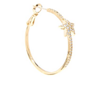 Paved Gold Star Hoops