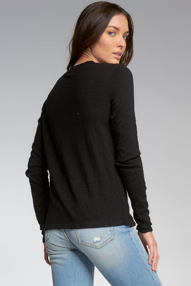 Long Sleeve Crew Neck Rock & Love Top