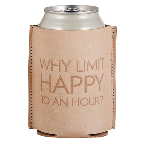Load image into Gallery viewer, Happy Hour Leather Beverage Coozie