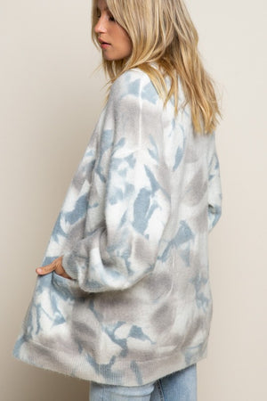 Time Flies Hand Dipped Tie Dye Cardigan