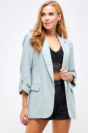 Rolled Sleeve Boyfriend Blazer