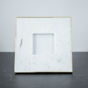"Marble Square Frame with Gold Detail 4""x4"""