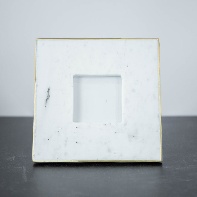 Marble Square Frame with Gold Detail 4