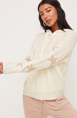 Load image into Gallery viewer, Star Pattern Sleeve Hoodie Sweater