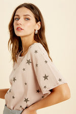 Distressed Hem Star Tee