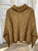 Cable Knit Sweater - Pecan Brown