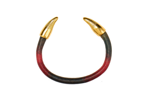 Horns of love bangle in multicolour