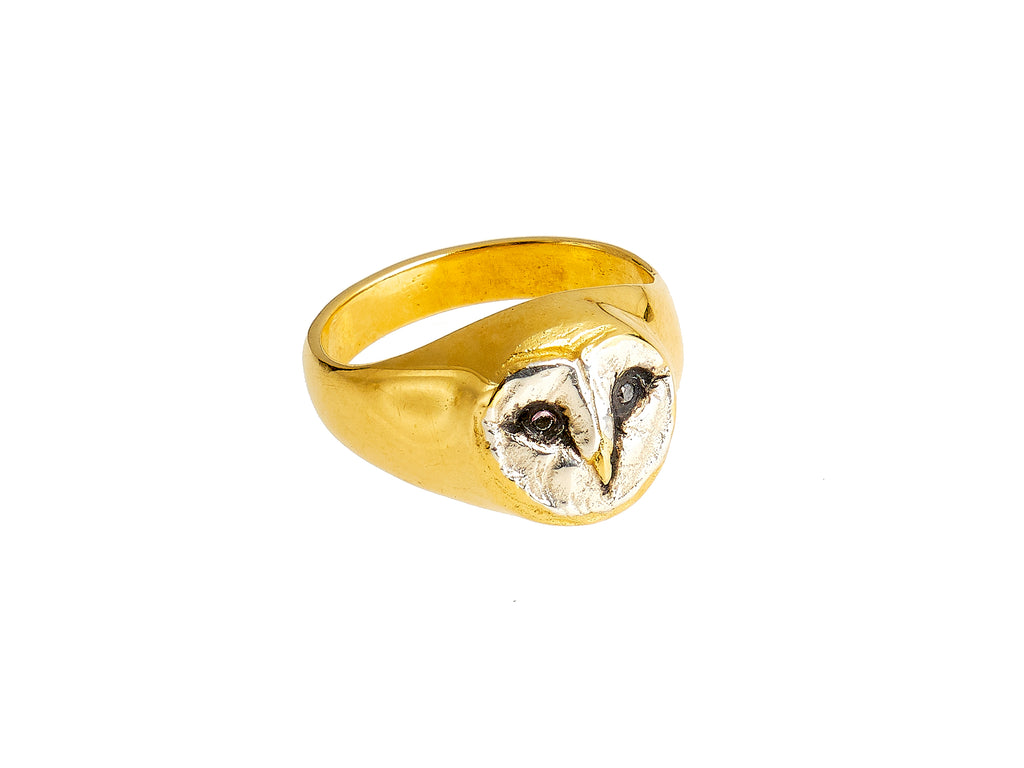 The Athene Noctua Signet Ring