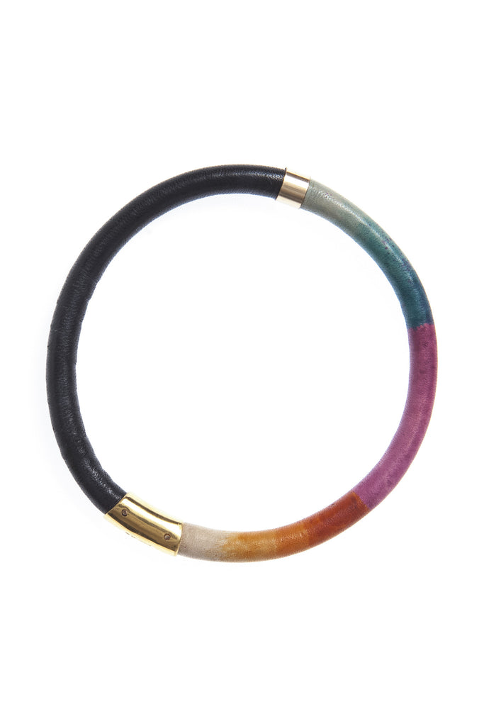 Leather Spectrum Bangle