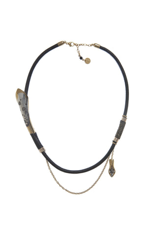 The Black Gold Petallica Necklace.
