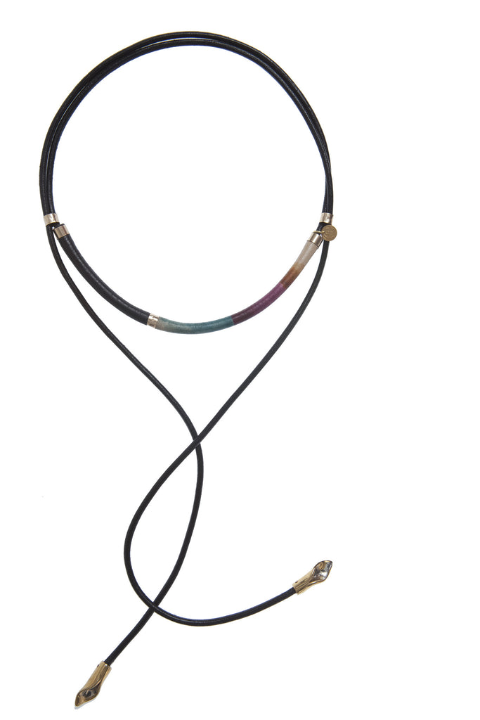 The Black Petallic Spectrum Necklace