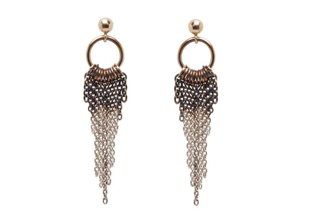 Microraptor Tail Chain Earrings