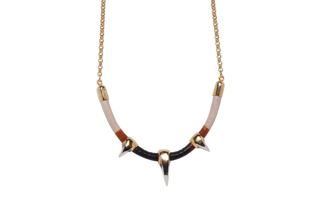 Triple Sabre Tooth Necklace