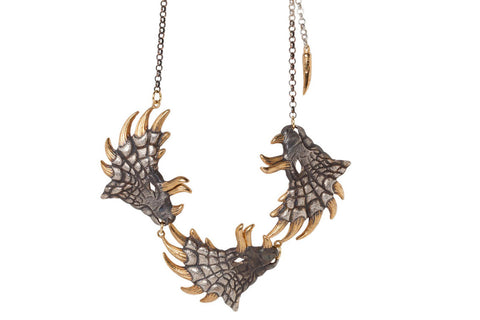Triple Pentasaurus Necklace