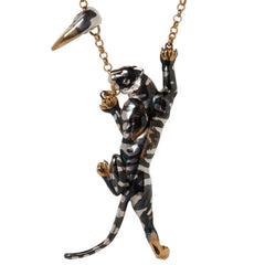 Double Sabre Tooth Tigeress Necklace