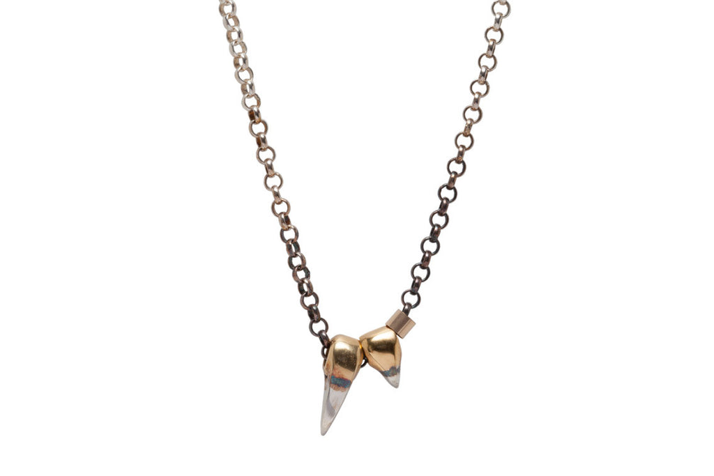 Double Sabre Tooth Necklace