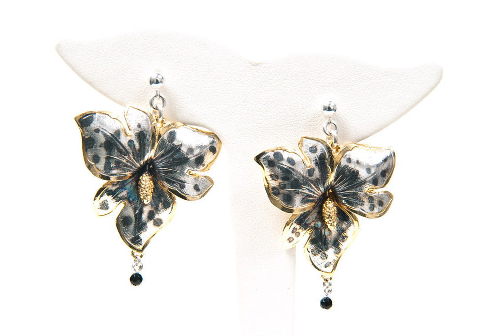 Tiger Orchid Earrings