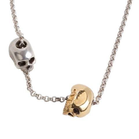 Lovers Leap Double Skull Necklace