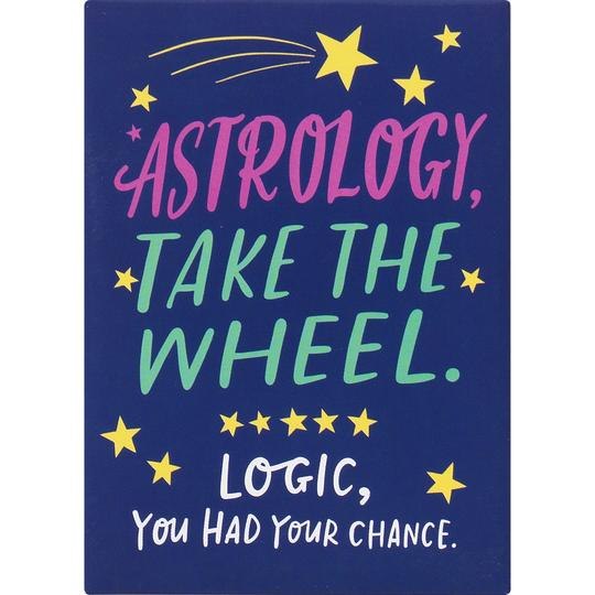 Astrology Take The Wheel Magnet
